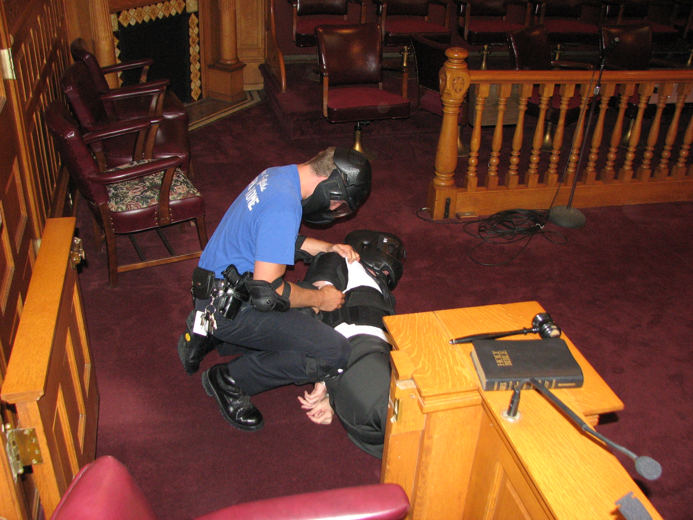 Court Room Disturbance Training